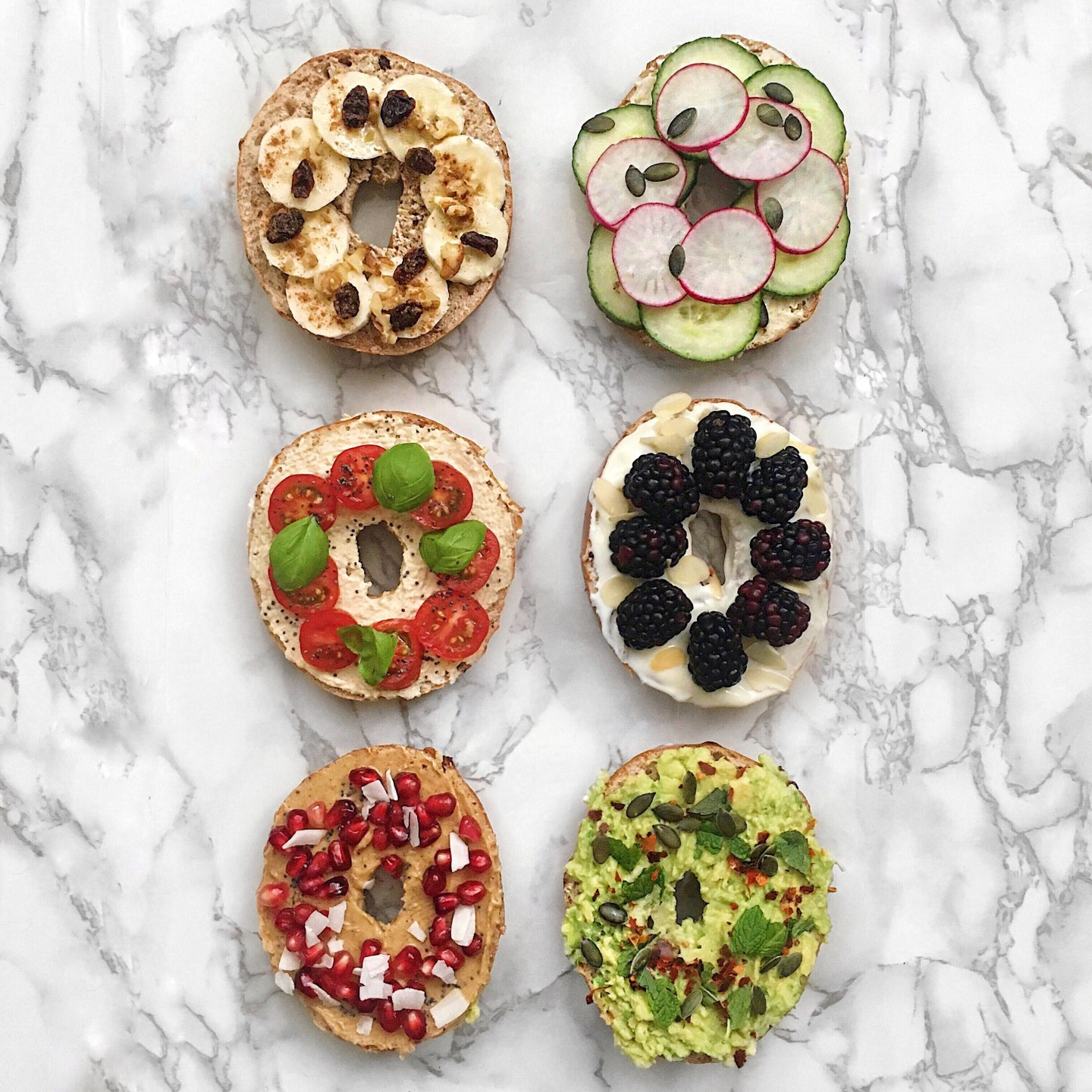 My Favourite Healthy Bagel Toppings – Sweet and Savourary