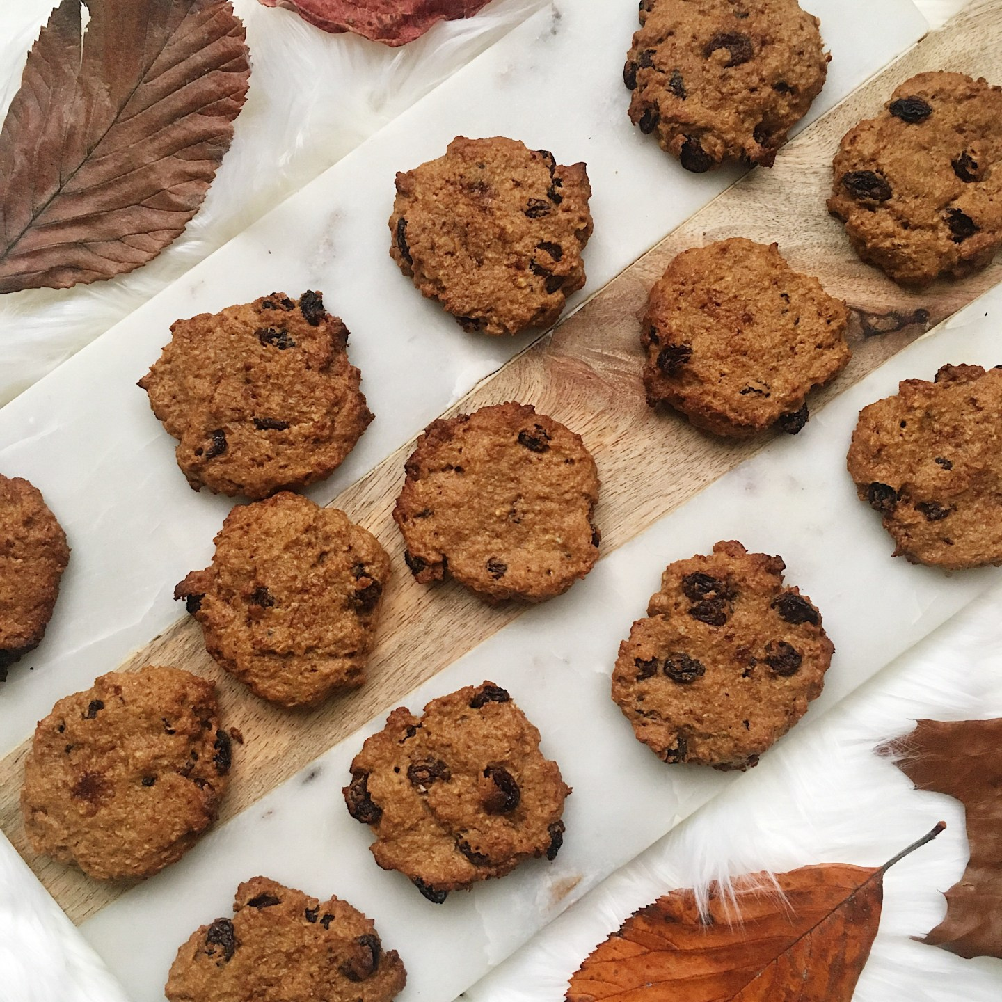 Recipe Healthy Pumpkin Spice Raisin Cookies
