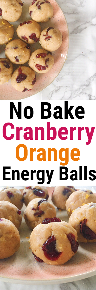 No Bake Cranberry Orange Protein Energy Balls