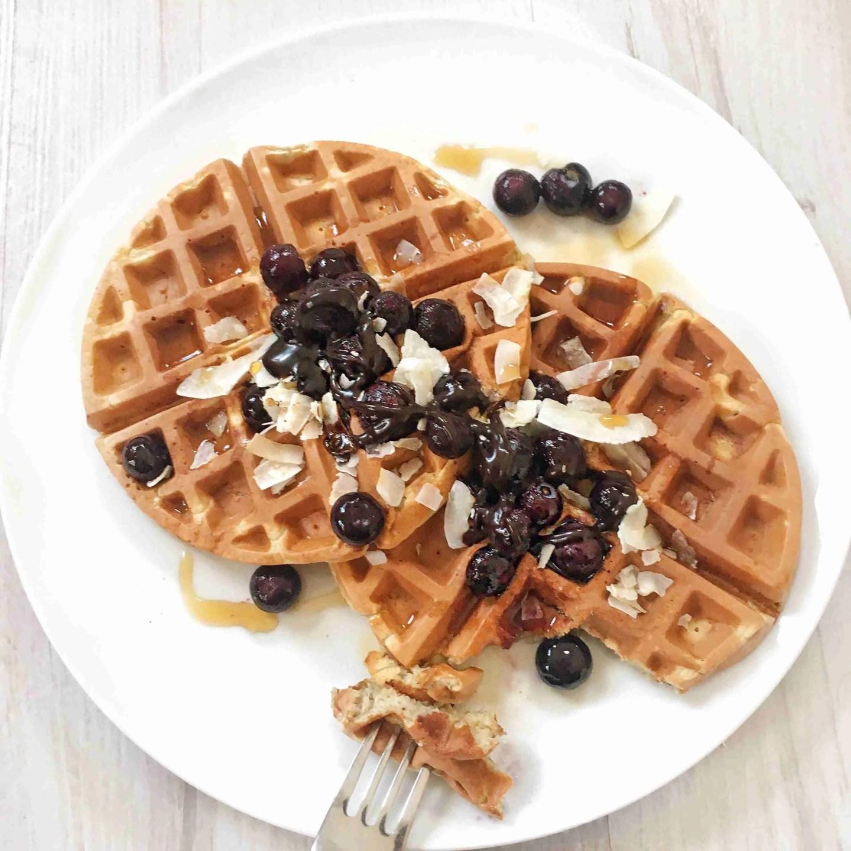 3 Ingredient Healthy Vegan Waffles