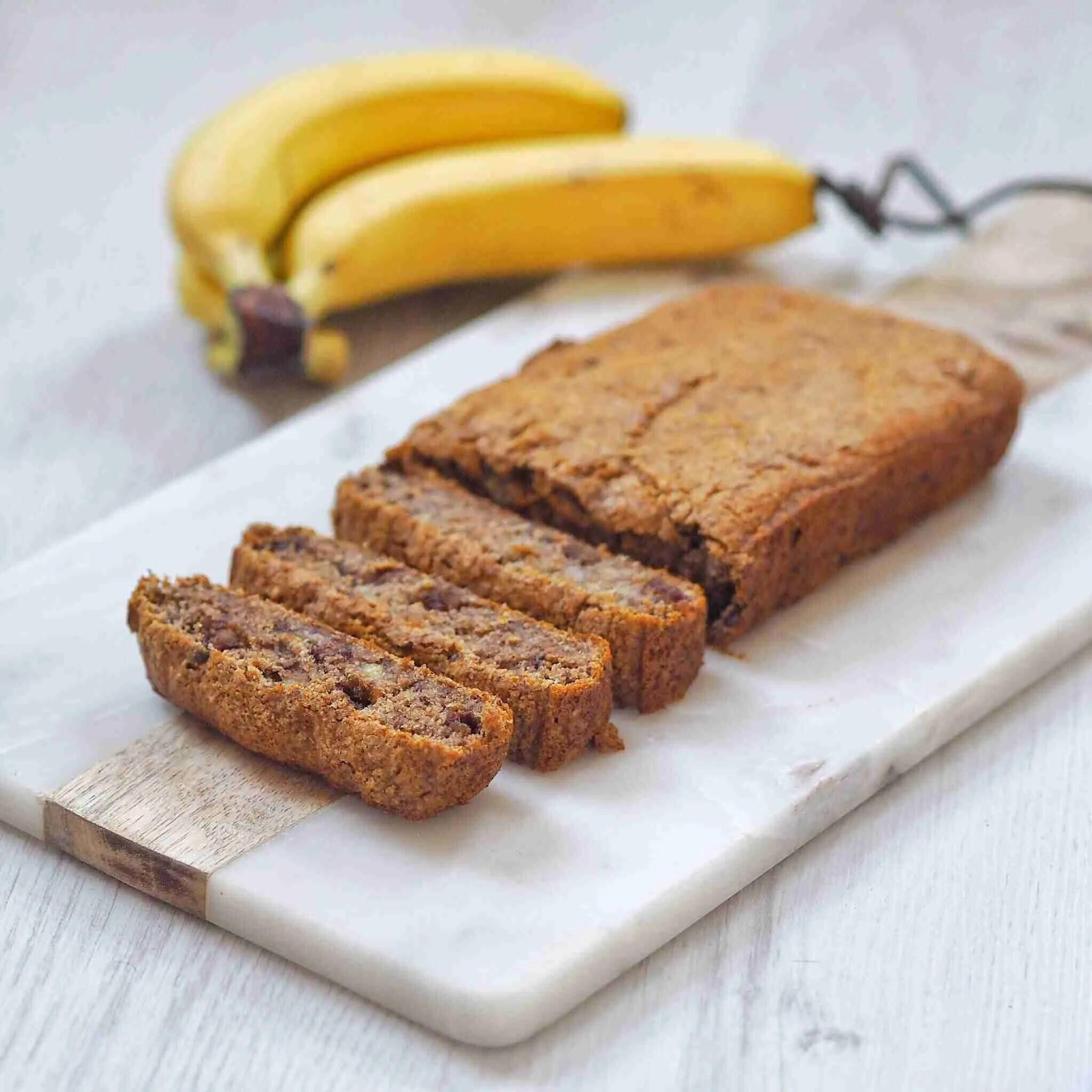 Date and Walnut Vegan Banana Bread