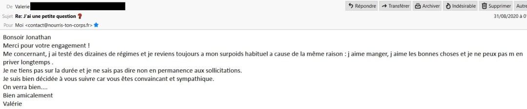 E-mail de Valérie