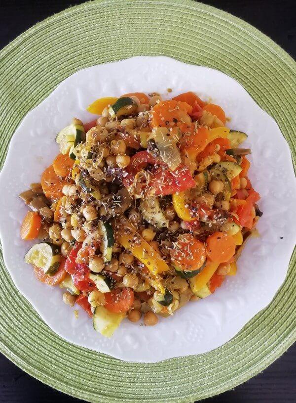 assiette de repas rééquilibrage alimentaire