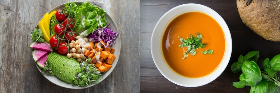 soupe vs salade