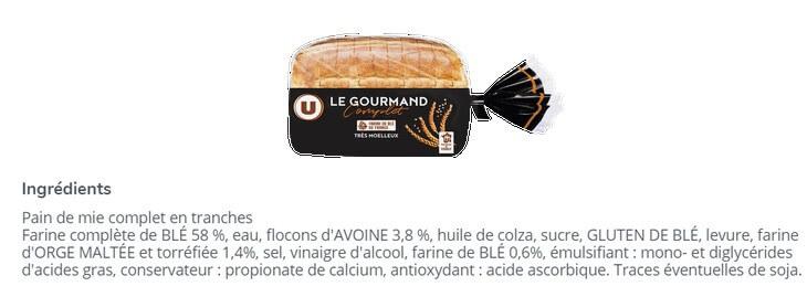 aliment ultra-transformé pain de mie