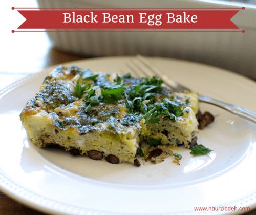 Black Bean Bake Egg Frittata Recipe_NourZibdeh