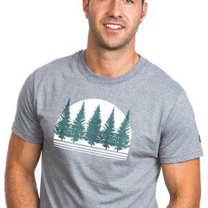 T-shirt forêt boréale homme plb
