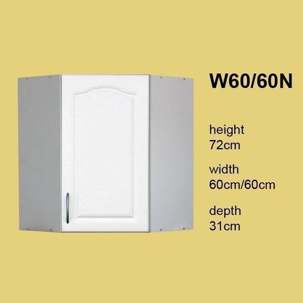 meuble de cuisine en coin 1 porte 60 cm element haut beatrice w60n