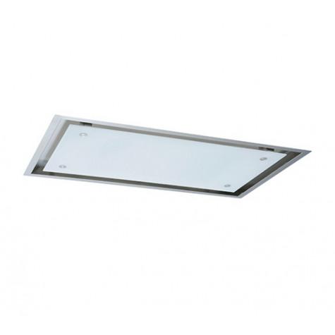 hotte plafond 120cm 905m3 h inox verre