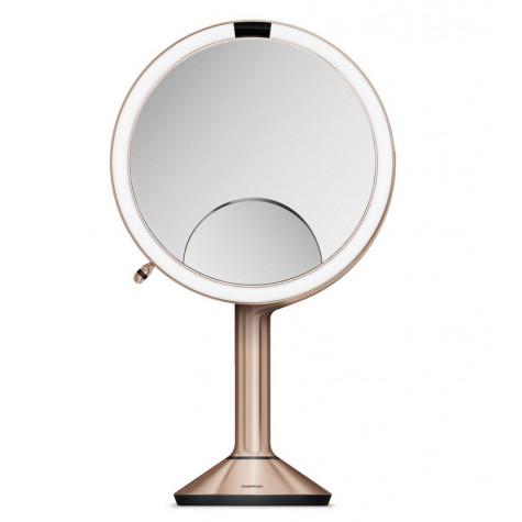 Simplehuman Miroir Grossissant Lumineux X1 X5 Et X10 Rose St3034 Trio Vente Petit Electromenager Et Gros Electromenager