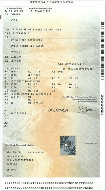 documents carte grise liste des