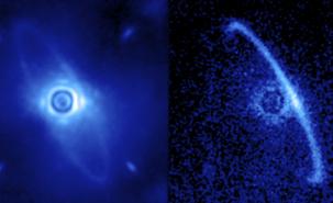 Disques de poussières en orbite autour de la jeune étoile HR4796A (Source: Marshall Perrin)