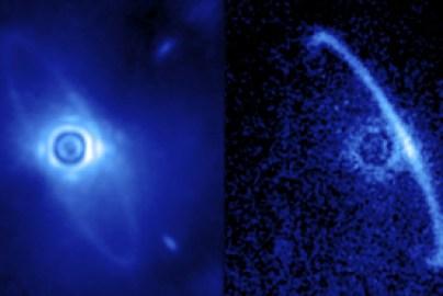 Disque de poussières en orbite autour de la jeune étoile HR4796A. (Source : Marshall Perrin)