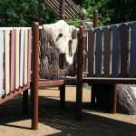 tree bark climber at Chessie's Big Back Yard
