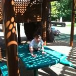 picnic table at Chessie's Big Back Yard