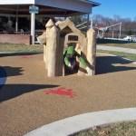 Sand castle at Chessie's Backyard Playground