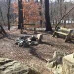 campfire and seating Potomac Overlook Regional Park Arlington VA