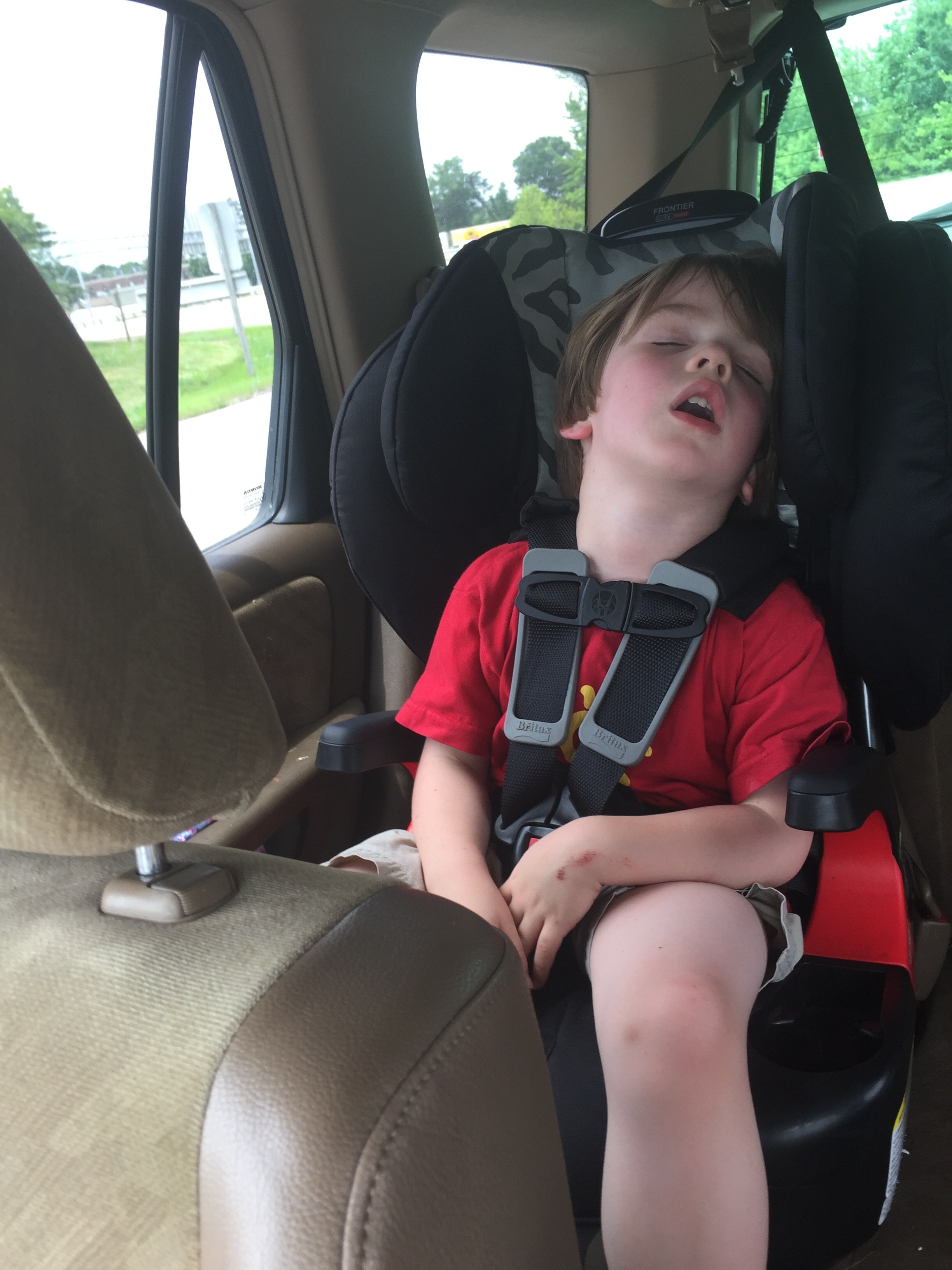 Passed out after a morning at Flight Trampoline Park The Joy Troupe