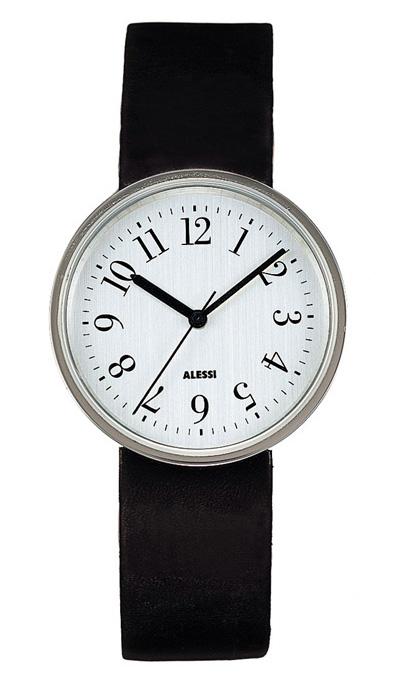 Alessi Al6003 X Stylish Silver Vinly Record Watch 36 1mm