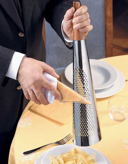 Alessi Todo Giant Hard Cheese Grater In 18 10 Stainless