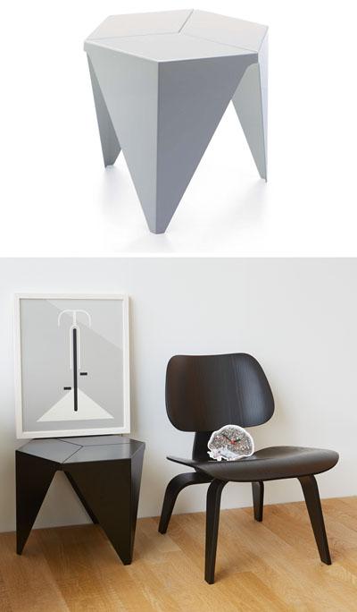 Vitra Design Aluminum Prismatic 15 Inch Side Table From Isamu Noguchi