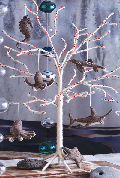 Modern White Christmas Tree In Natural White Wool