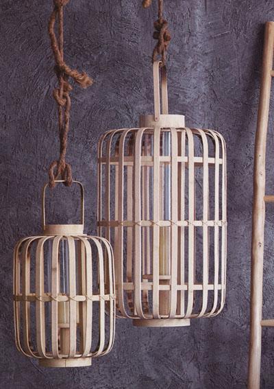 Junzi Bent Bamboo Lantern Lights