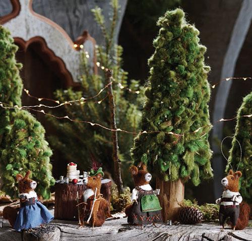 Christmas Tree Ornaments German Oktoberfest Squirrels