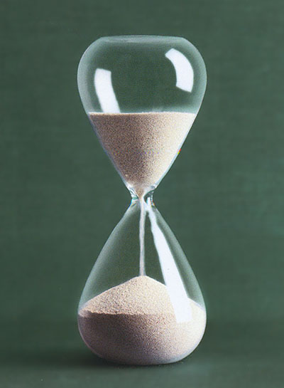 Modern Hourglass With Silver Plated Sand