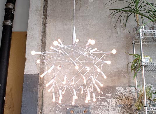 Patrick Townsend Modern White Orbit Chandelier By Areaware Click To View Additional Images