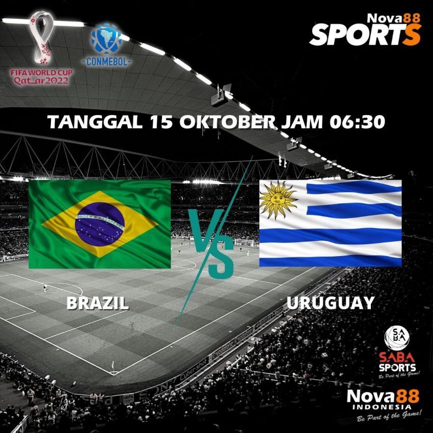 Prediksi Bola Brazil VS Uruguay - Nova88 Sports