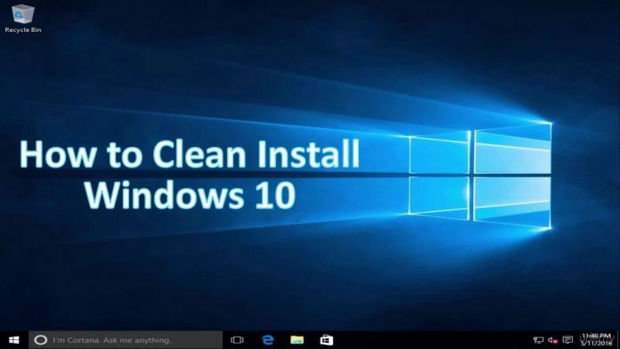 How to do a clean installation for windows