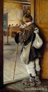 At-School-Doors-Nikolay-Bogdanov-Belsky-1897