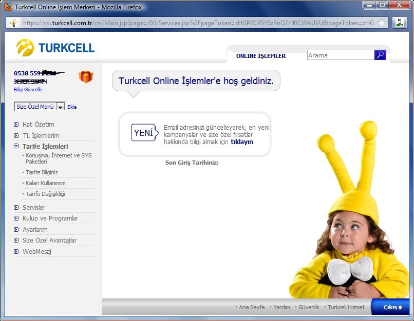Turkcell Online İşlemler Kullanımı? (Bireysel)