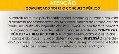 Suspensão concurso Santa Isabel3