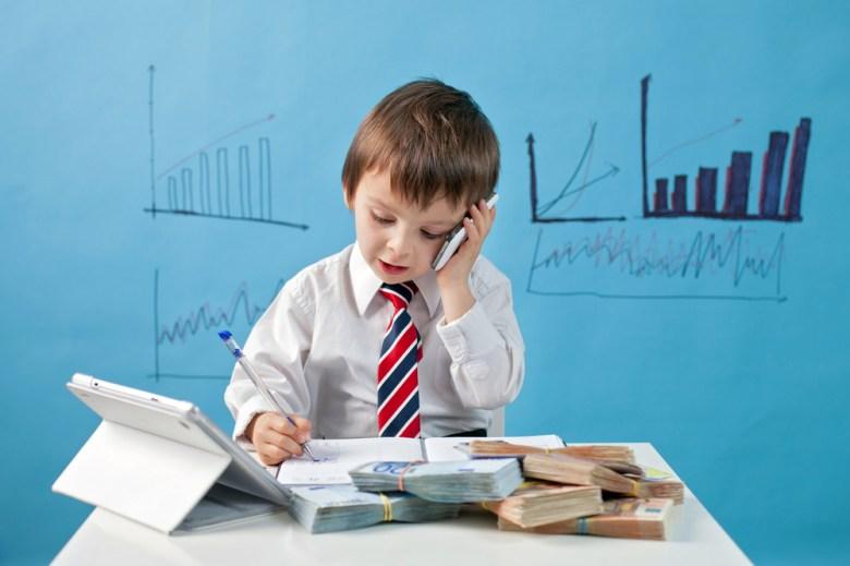 Dziecko biznesmen