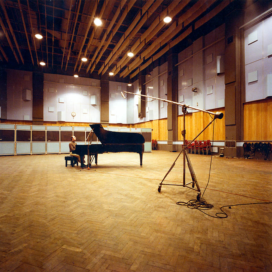 Elyakim Taussig Pianist, recording session at Abbey Road Studio, London England