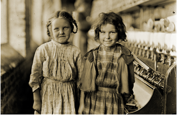 "Two of ""helpers"" in a Cotton Mill"