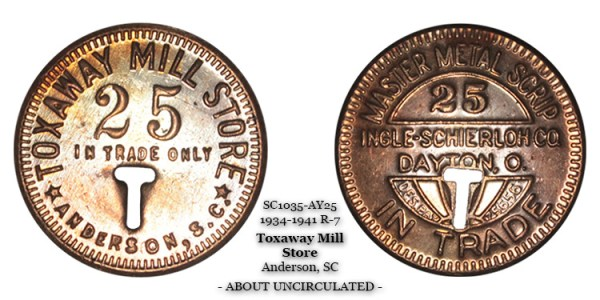 SC1035-AY25 Toxaway Mill Store Scrip