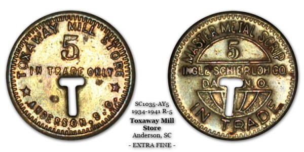 SC1035-AY5 Toxaway Mill Store Scrip