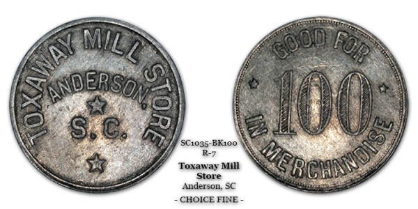 SC1035-BK100 Toxaway Mill Store Scrip