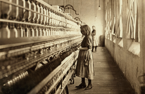 "Sadie-Pfeifer, 48"" high, has worked half a year. Credit: Lewis Hine"
