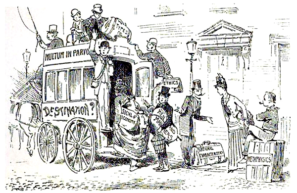 Illustration by K. Caufeild Orpen, 'De Omnibus Rebus, An Old Man's Discursive Ramblings on the Road of Everyday Life,' John C. Nimmo, 1888