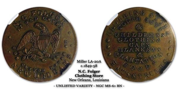 Miller LA-20A N.C. Folger - Unlisted Variety