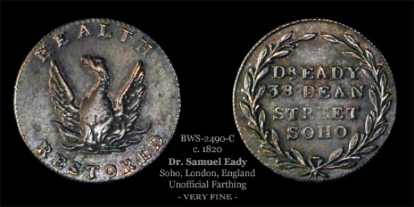 Dr. Eady Farthing Token BWS-2490-C