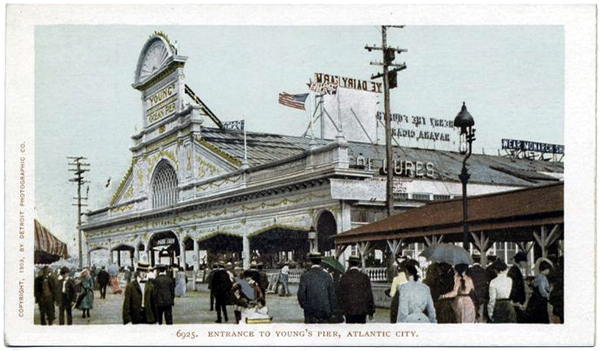Entrance to Young's Pier, Atlantic City New Jersey