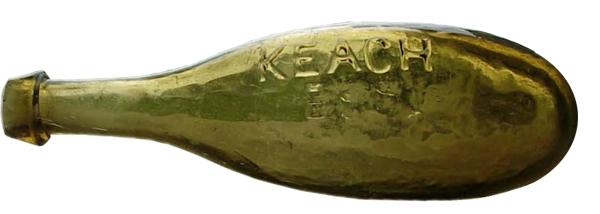 P.R. Keach Soda Water bottle