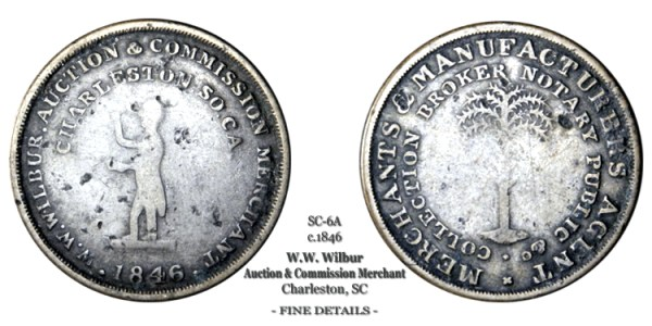 SC-6A, Obverse-2 (Period), Reverse-A (Thin Tree), Pre-Strike Silvered Brass