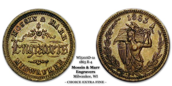 WI510AD-1a 1863 R-4 Mossin & Marr Milwaukee Wisconsin Naked Amazon