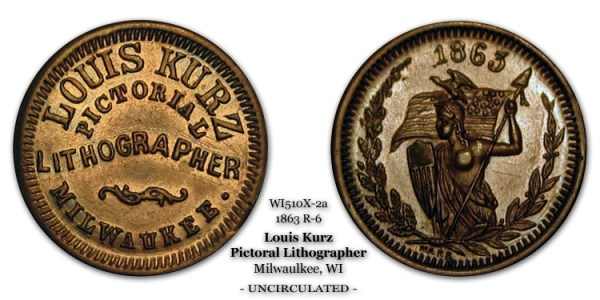 WI510X-2a 1863 R-6 Louis Kurz Pictorial Photographer Milwaukee Wisconsin Amazon